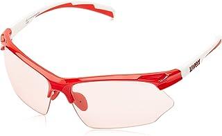 Uvex S5308723804 Sportstyle 802 Vario - Gafas deportivas, color blanco y rojo