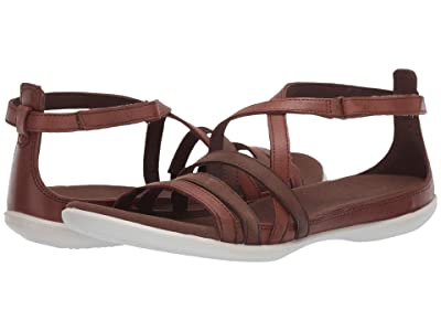 ECCO Summer Cross Strap Sandal (Mahogany/Cocoa Brown Cow Nubuck/Cow Leather) Women