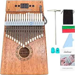 Ladoruai 17 key Kalimba, Smart Illuminated Thumb Piano, Tuning Hammer and Study Instruction(20 songs option)