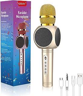 Wireless Bluetooth Karaoke Microphone, MODAR 3-in-1 Portable Speaker Karaoke Mic for iPhone/Android Smart KTV, Voice Mixer...