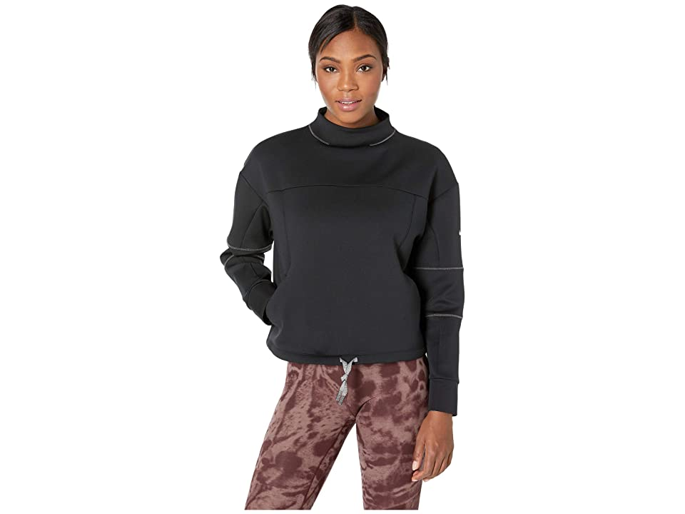Nike Dry Gym Long Sleeve Crop Lead (Black/Thunder Grey/White) Women