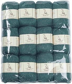 TEHETE Fil de Laine Merino à Tricoter, Pelote de Laine à Crochet, 3 Torons,12 pelotes, pour Couverture, Chaussette Pull-Ov...