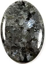 Gems&Jewels Natural Larvikite Blue Norwegian Moonstone Cabochon Oval Gemstone 36.1ct IK11