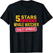 5 Stars Whale Watcher - Funny Whale Watching Gift T-Shirt