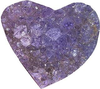 Crystal Heart Natural Agate Geode Quartz Crystal Cluster Stone Craft Reiki Healing Decoration Amethyst