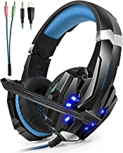 Auriculares Cascos Gaming Headset Gamer con Micrófono Juegos Estéreo LED Para PS4 Portátiles Móviles Tablet PC Nuevo Xbox One Mac Nintendo