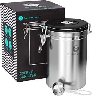 Coffee Gator Stainless Steel Container - Fresher Beans...