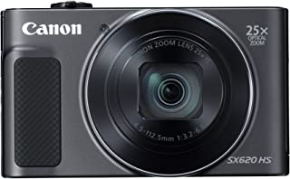 Canon PowerShot SX620HS 20.2MP Digital Camera with 25x Optical Zoom (Black) + 16GB Memory Card + Camera Case