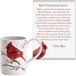Lola Bella Gifts and Burton and Burton Cardinal Coffee Mug and Red Feathered Soul Poem Gift Set