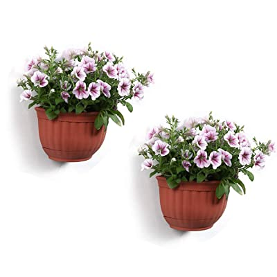 T4U Resin Wall Planter Brick Red Small Set of 2...