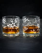 Cognitive Surplus Whiskey Chemistry Lowball Rocks Glass Pair