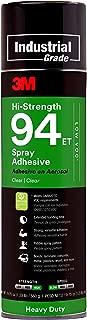 3M Hi-Strength 94 ET Spray Adhesive Glue, Low VOC, Heavy Duty, Wood, Metals, Rubber, Carpet, Flooring, Laminate, Foam, Fabric, Glass, Plastic, Clear, 19.75 oz