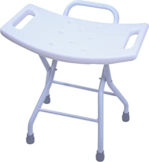 Folding Shower Seat Stool - Portable Assist Bath Bench Chair with Hand Grab for Seniors, Disabled, or Home Care Comfort by BrightCare