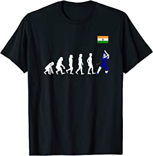 Evolution of man into cricket player with Indian team Jersey