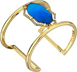Gold/Crystal/Blue Catseye