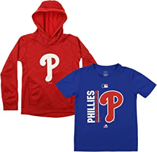 Outerstuff MLB Youth 8-20 Polyester Performance Player Name /& Number Pullover Sweatshirt Hoodie