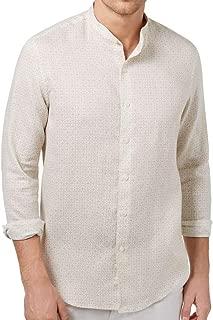 Tasso Elba Mens Linen Medallion Print Button-Down Shirt