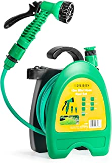 GloBrite Light Hose Pipe Reel for Garden with 10 meters/32 feets hose and Accessories for Irrigation, for Watering Pots, B...