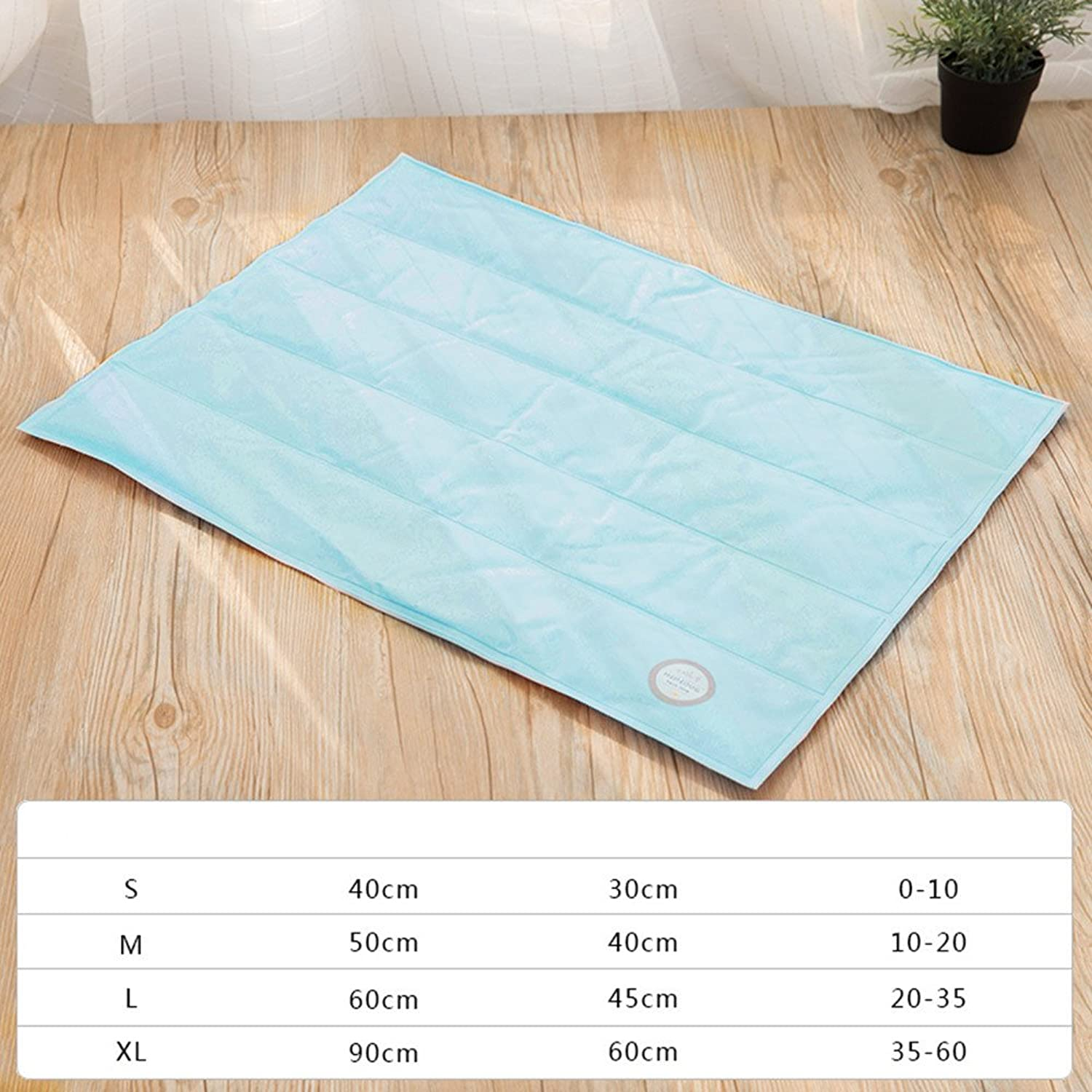 Pet Ice Mat Dog Mat Summer Dog Pad Small Dog and Cat Cushion Cool Cushion Cooling Pad Cool Bite Cool Nest Summer Square Light bluee L
