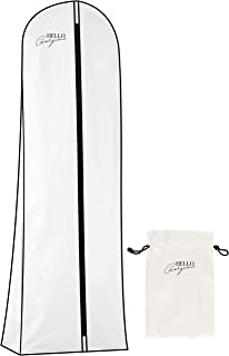 Premium Wedding Dress and Long Gown Garment Bag | Travel + Storage | 72 In, 10 In Gusset, Breathable