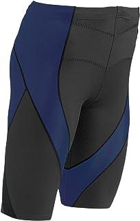 CW-X Men's Pro Shorts (Black/Navy, Large)