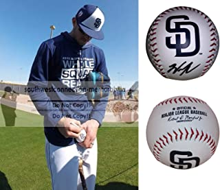 Wil Myers San Diego Padres Autographed Hand Signed SD Padres Logo Baseball with Exact Proof Photo of Will Signing and COA