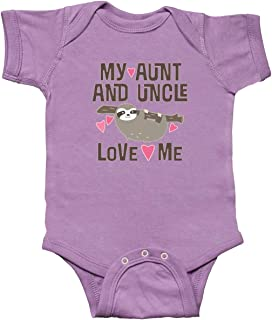 inktastic My Aunt and Uncle Love Me Sloth Infant Creeper