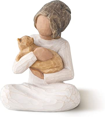 Willow Tree Kindness (Girl Darker Skin Tone & Hair Color), Sculpted Hand-Painted Figure