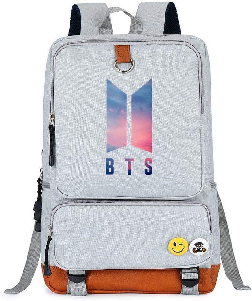 JUSTGOGO Korean KPOP BTS High order Bangtan Fresno Mall Boys Handbag Daypack S Backpack