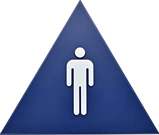 Hillman Blue Triangle Men's Restroom Sign (12