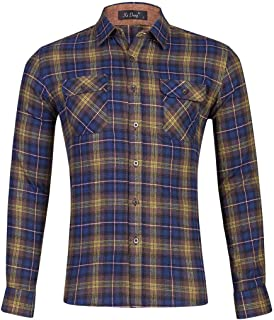 CMCYY Mens Casual Regular Fit Printed Long Sleeve Flower Button-Down Shirts