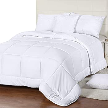 Utopia Bedding All Season Down Alternative Quilted Comforter Twin - Twin Duvet Insert with Corner Tabs - Machine Washable - Duvet Insert Stand Alone Comforter - Twin/Twin XL - White