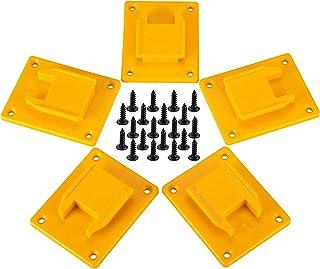 5 Packs Tool Mount for Dewalt 20V,12V Drill,Also Fit for Milwaukee M18 Tool Holder,Hanger (Lot of...