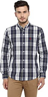 Red Tape Men's Checkered Regular Fit Casual Shirt (RSF8489A_Lemon_S)