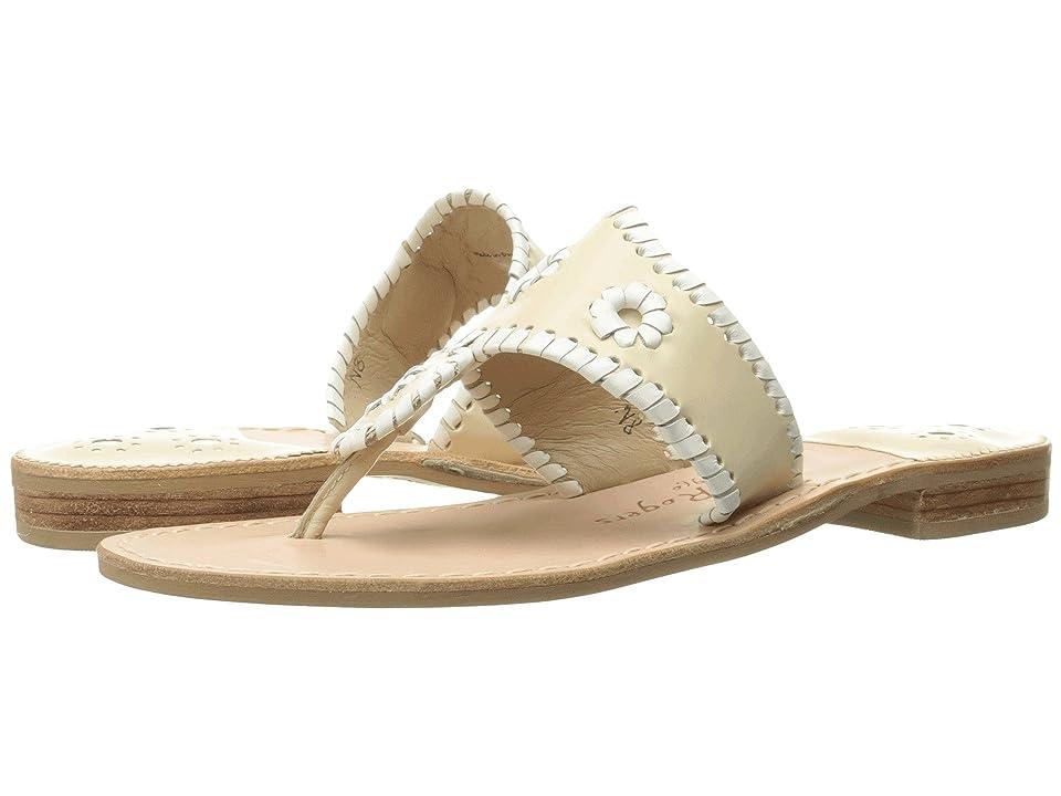 Jack Rogers Palm Beach (Bone/White) Women's Sandals