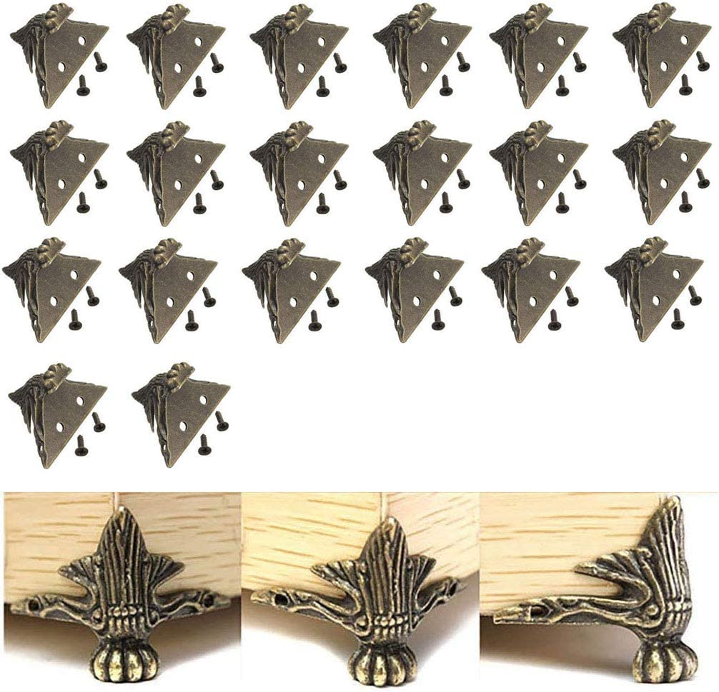 VinBee 20 PCS Free Shipping Cheap Bargain Gift Antique Brass Special Campaign Wood Chest Storage Box Jewelry Case