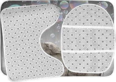 LOJALS Juego de alfombras de baño de 3 Piezas Antideslizante, alfombras de Ducha Aparinas de Cuarto de baño Antideslizante, A