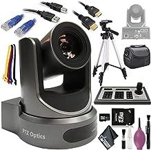 "$2448 » PTZOptics 30X-SDI G2 Live Streaming Broadcast Camera (Gray) - 4D IP Joystick Controller (G3) - HDMI Cable - Ethernet 5ft - 72"" Tripod - 32GB Card - USB A-B"