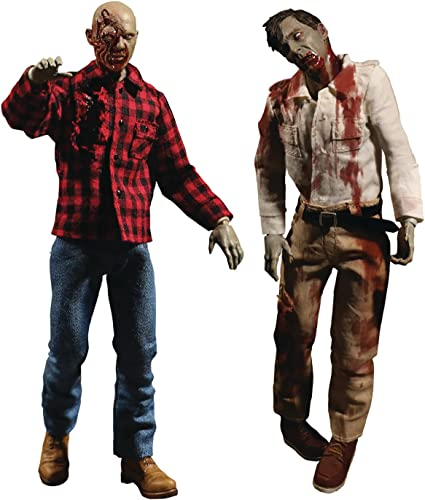 Dawn of the Dead One 12 Collective Action Figure Set - Fly Boy & Plaid Zombie