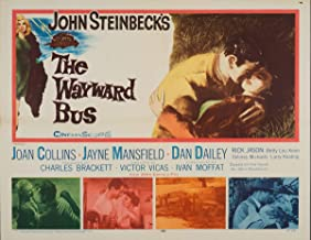 Movie Poster Giclee Print On Canvas-Film Poster Reproduction Wall Decor(The Wayward Bus 2) #XFB