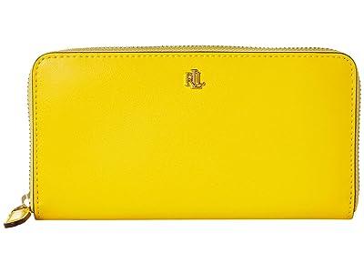 LAUREN Ralph Lauren Zip Continental Wallet (Racing Yellow/Lauren Tan) Wallet Handbags