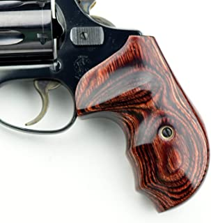 Altamont - S&W J Round Revolver Grips - Bateleur - Real Wood Gun Grips fit Smith & Wesson J Frame Round Butt .38 Special and 9mm Revolvers - Rosewood - Made in USA