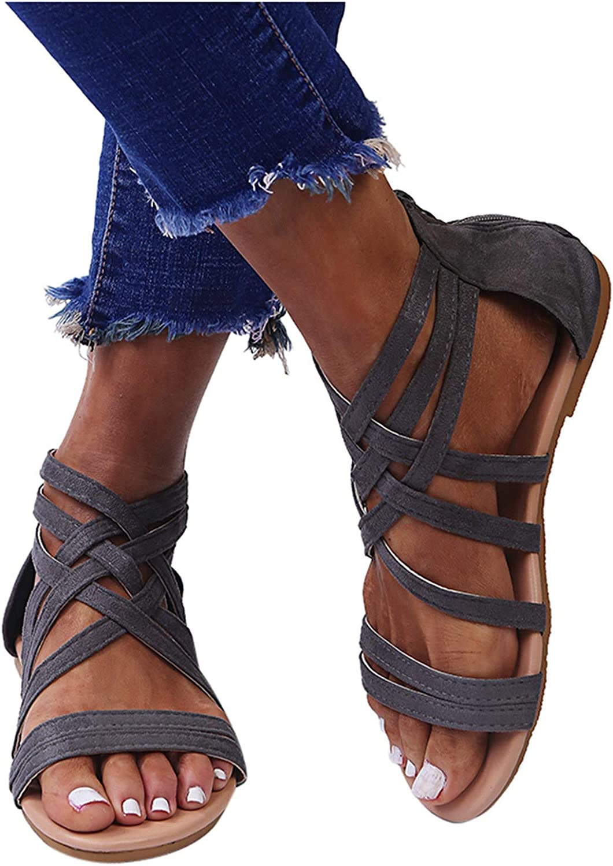 Hgndbloo Gradation Sandals Luxury for Super special price Women Open Flat Toe Pl Flops Flip