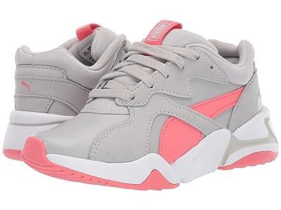 Puma Kids Nova Core SL (Little Kid) (Grey Violet/Calypso Coral) Girls Shoes