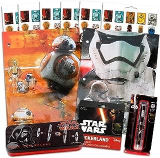 Star Wars School Supplies -- 2 Star Wars Folders, 2 Pens, Pencils Tin and 120 Stickers (Star Wars School Supplies Set)