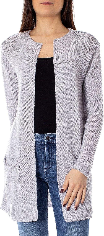 One.0 Women's OZ19GREY Grey Acrylic Cardigan