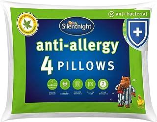 Silentnight Anti-Allergy Pillow - White, Pack of 4, Anti-Bacterial pillows