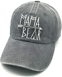 15cb289bcd8e5 Waldeal Embroidered Mama Bear Vintage Distressed Baseball Dad Hats Cap  Grateful Thankful Gift for Mom Grandma