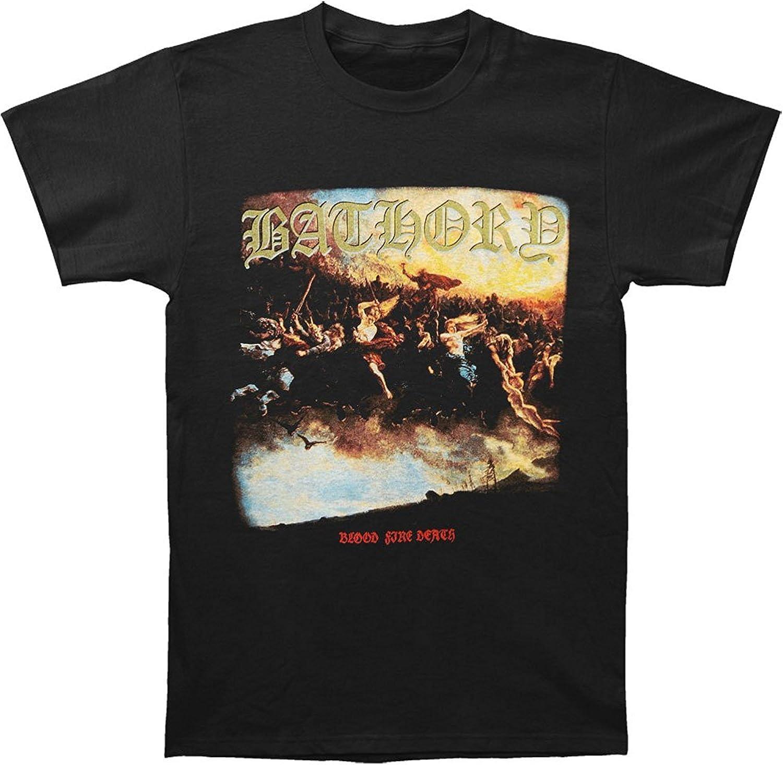 Authentic BATHORY Blood Quantity limited Fire Death T-Shirt Quorthon Metal Max 70% OFF Black