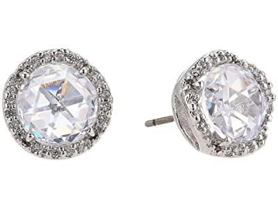 Kate Spade New York That Sparkle Pave Round Large Studs Earrings (Clear/Silver) Earring